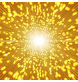 gold sparkle background with zoom affect vector image vector image