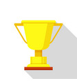 golden trophy icon flat style vector image vector image