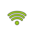 grated wifi symbol of digital internet connection vector image vector image