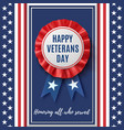 happy veterans day badge vector image vector image