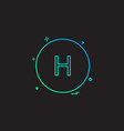 health hospital alphabet-h sign-h icon design vector image