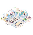 isometric office design business center plan vector image vector image