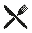 knife and fork white background vector image vector image