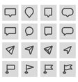 line map pointer icons set vector image vector image