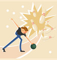 man throwing a ball vector image