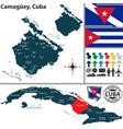 map camaguey cuba vector image