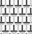 Monochrome pattern with black gray t shapes vector image