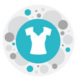 of trade symbol on woman top vector image vector image