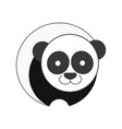panda icon for graphic design vector image vector image