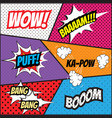 pop art comics style template background vector image