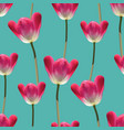 realistic tulips seamless pattern vector image vector image