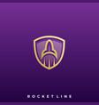 rocket icon design template vector image