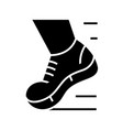 running shoes black icon concept vector image vector image