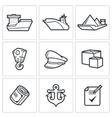 Sea craft icons vector image vector image