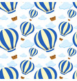 seamless pattern tile cartoon with hot air balloon vector image vector image