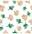 Seamless Pattern with Agaric Field Mushrooms vector image vector image