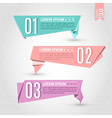 Set of colorful origami labels vector image