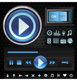 set with interface design elements for music playe vector image vector image
