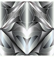 silver 3d geometric seamless pattern vector image