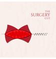 Surgery cut concept vector image vector image