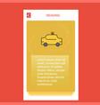taxi mobile vertical banner design design vector image