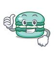 thumbs up macaron character cartoon style vector image vector image