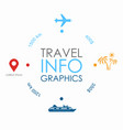 travel infographic design template with place vector image vector image