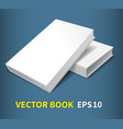 two hardcover books vector image vector image