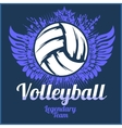 Volleyball championship logo with ball vector image vector image