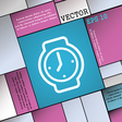 watches icon sign Modern flat style for your vector image