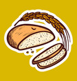 wheat bread icon hand drawn style vector image vector image