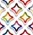 White wavy rectangles with rainbow and white vector image vector image