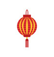 traditional chinese paper lantern with little vector image