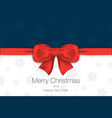 merry christmas and happy new year blue and white vector image