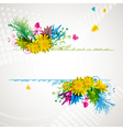 abstract flora background 2 vector image