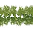 Flat Christmas Banner vector image