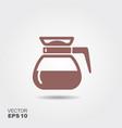 flat coffee pot icon vector image