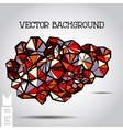 Abstract 3D geometric colorful shape on a vector image