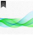 abstract blue and green wave background vector image vector image
