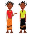 African village girls vector image vector image