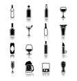 Alcohol icons black vector image vector image