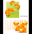 Animal background with Foxes 2 vector image vector image