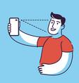 biometric profile concept verification vector image