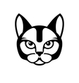 Black Cat Face Icon on White Background vector image