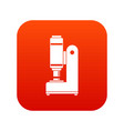 blacksmith automatic hammer icon digital red vector image vector image