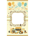 Celebration card template vector image vector image