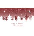 Christmas landscape Moon stars and trees vector image