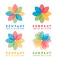 company logo art color circle icon vector image