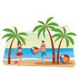couple at beach vector image vector image