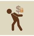 crisis economy save money concept icon design vector image vector image